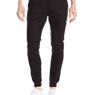 Publish BRAND INC. Men's Legacy Stretch Twill Jogger Pant with Water Resistant Coat, Black, 34