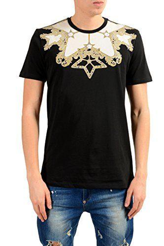 Versace Collection Men's Black Graphic Print T-Shirt US 2XL IT 56