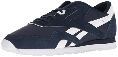 Reebok Men's CL Nylon PN Sneaker, Collegiate Navy/White, 9 M US