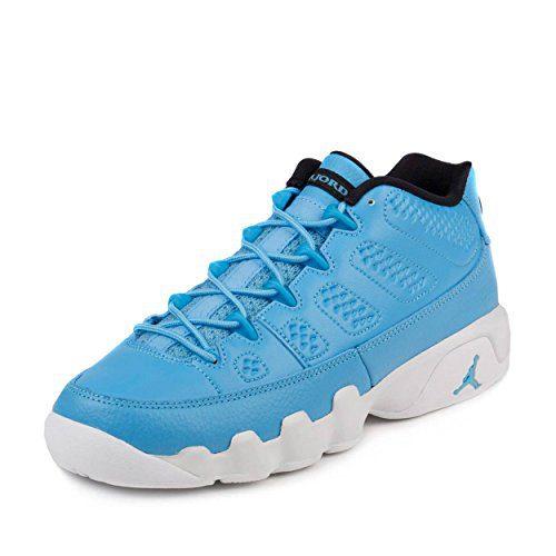 Nike Boys Air Jordan 9 Retro Low BG Pantone University Blue/White Leather Size 6Y