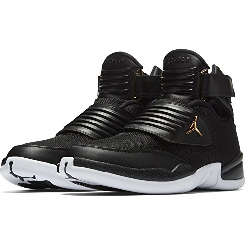 NIKE Mens Jordan Generation 23, Black/Black-White-Metallic Gold, 10 D(M) US