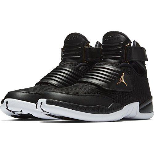 NIKE Mens Jordan Generation 23, Black/Black-White-Metallic Gold, 10 D(M) US