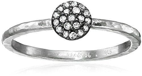 Gurhan Lentil Pave Diamond Sterling Silver Stackable Ring (1/10cttw, I-J Color, I2 Clarity), Size 6.5