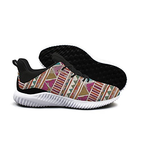 Purple Color Yellow Checkered Cool Patterns Men Shoes Running Shoe Walking Shoes