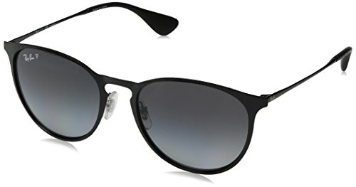 Ray-Ban- Shiny Black Frame/Light Grey Gradient Grey Polar Lens, 54 MM