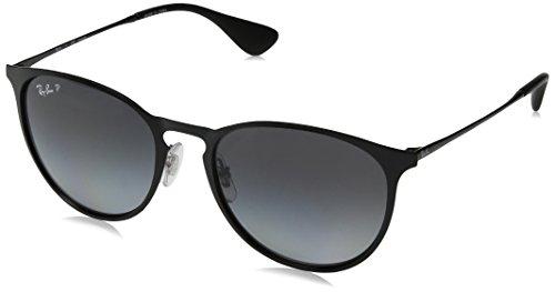Ray-Ban- Shiny Black Frame/Light Grey Gradient Grey Polar Lens, 54 MM