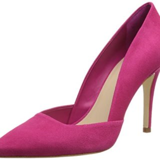 Trina Turk Women's Hollywood Dress Sandal, Vivid Pink Suede, 10 M US
