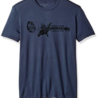 John Varvatos Men's United States Rock N Roll Graphic Tee, Twilight Blue, Extra Large