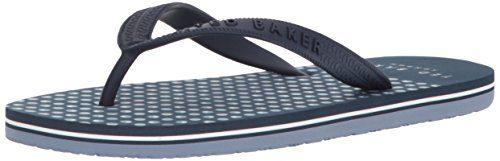 Ted Baker Men's Flyxx 5 Sandal, Dark Blue (Burr Print), 9 D(M) US