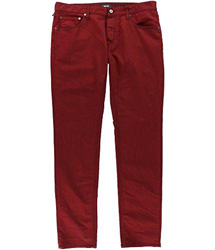 Just Cavalli Mens Contrast Stitching Slim Fit Jeans Red 32x34