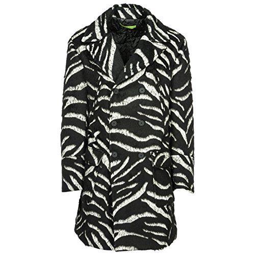Versace Jeans Men's Double Breasted Coat Overcoat Black US Size 48 (US 38)