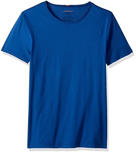 BOSS Orange Men's Tooles Crew Neck T-Shirt, Medium Blue, Large