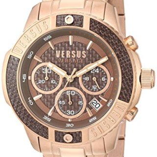 Versus by Versace Men's 'Admiralty' Quartz Tone and Gold Plated Casual Watch