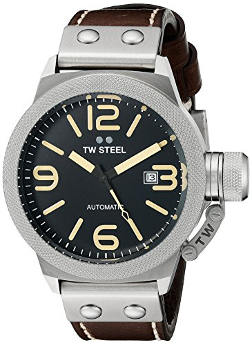 TW Steel Men's CS35 Analog Display Automatic Brown Watch