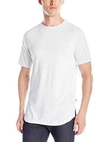 Publish Brand INC. Men's Short Sleeve Raglan Crew Neck T-Shirt, White, Medium