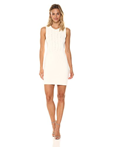 A|X Armani Exchange Women's Sleeveless Fringe Dress, Cream, X-Small