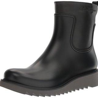 Salvatore Ferragamo Men's Freddo Rain Boot, Black, 43 (US Men's 9) D-Medium