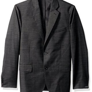 J.Lindeberg Men's 140s Platinum Wool Blazer, Almost Black, 50