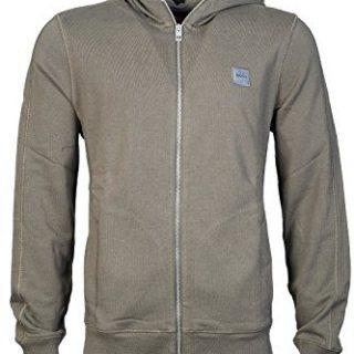 HUGO BOSS Mens Zip Up/Button Cardigan Hoody Sweatshirt ZTADIUM Size L Blue