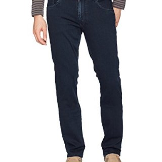 Robert Graham Men's Adapt Classic Fit Woven Denim, Indigo, 34