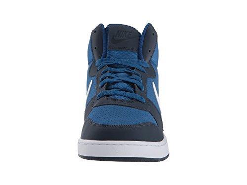 df3d49fec9e60 Home Shop Men Shoes Fashion Sneakers NIKE Men's Court Borough Mid  Basketball Shoe, Gym Blue/White/Obsidian/Solar Red, 10.5 D US