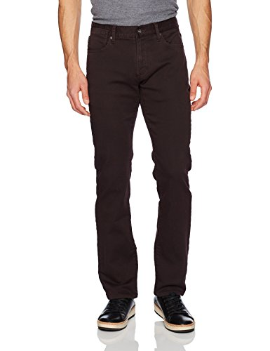 John Varvatos Men's Bowery Fit Jean, Zip Fly Aytr 1, Pinot Noir, 36