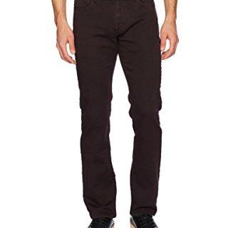 John Varvatos Men's Bowery Fit Jean, Zip Fly Aytr 1, Pinot Noir, 36