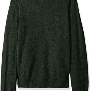 Original Penguin Men's Solid Lambswool Crew Sweater, Forest Night, Large