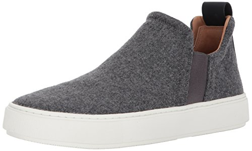 Vince Men's Lucio Sneaker, Heather Steel Felt, 7.5 Medium US