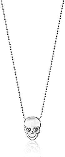 "Alex Woo Mini Addition Skull Chain in Sterling Silver Pendant Necklace, 16"""