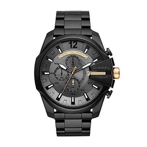 Diesel Men's 'Mega Chief' Quartz Stainless Steel Casual Watch, Color:Black (Model: DZ4479)