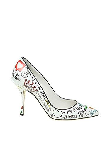 Dolce e Gabbana Women's White Leather Pumps