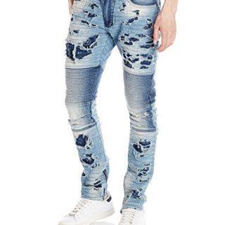 PRPS Goods & Co. Men's Windsor Skinny Fit, Leviathan Indigo-1, 38