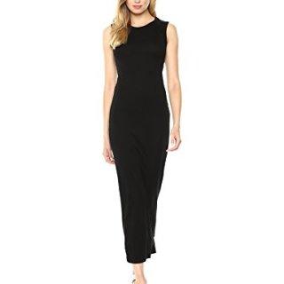 Enza Costa Women's Island Cotton Sleeveless Muscle Dress, Black, XS