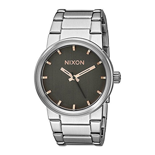 Nixon Unisex Cannon Gray/Rose Gold Watch