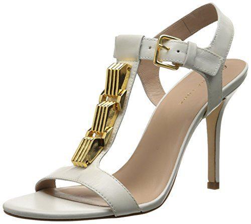 Trina Turk Women's Loyola Dress Sandal, White, 8 M US