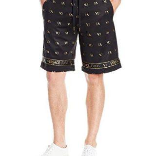 Versace Jeans Men's Felpa Vj Logo Short, Nero, Large