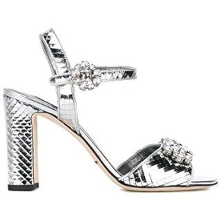 Dolce e Gabbana Women's Silver Leather Sandals