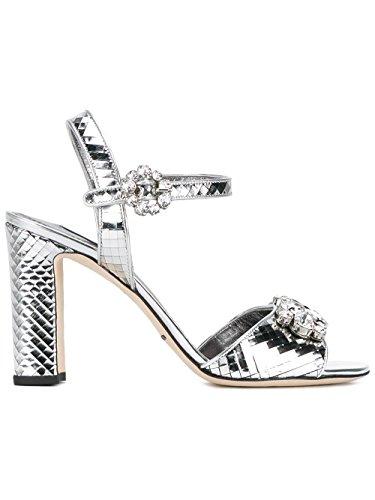 Dolce e Gabbana Women's Silver Leather Sandals
