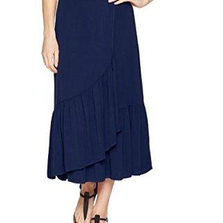 Michael Stars Women's Rylie Rayon Wrapped Midi Skirt, Passport, S