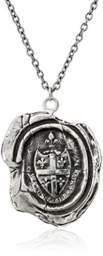 Pyrrha talisman Sterling Silver Five Fleur De Lys Crest Necklace