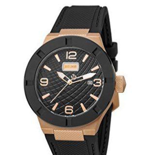 Just Cavalli Men's Rock Luminous Black Silicone Date Wristwatch