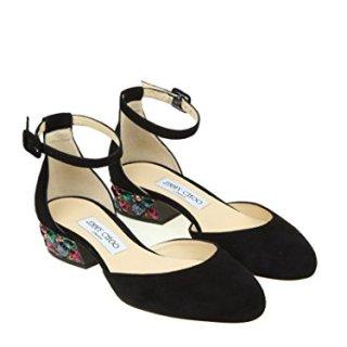 JIMMY CHOO Women's Marnie35uch Black Suede Sandals