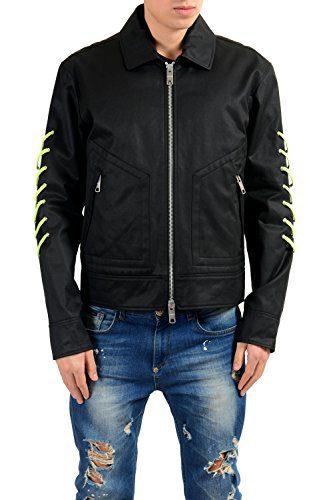 Versace Versus Men's Black Full Zip Detailed Light Jacket US S IT 48