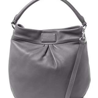 Marc by Marc Jacobs Hillier Leather Handbag (Faded Aluminum/ Sliver)