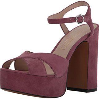 Marc Jacobs Women's Lust Platform Heeled Sandal, Dusty Pink, 39 M EU (9 US)