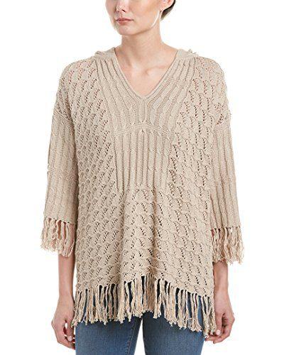 Trina Turk Women's Cleo Pima Cotton Hooded Sweater, Beach Road, X-Small
