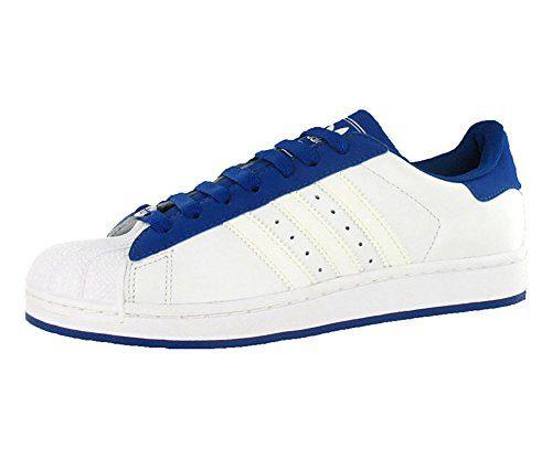 adidas Originals Men's Superstar II Shoe,White/White/Royal,11. 5 M US