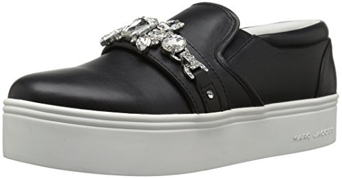 Marc Jacobs Women's Wright Embellished Sneaker, Black, 36 M EU (6 US)