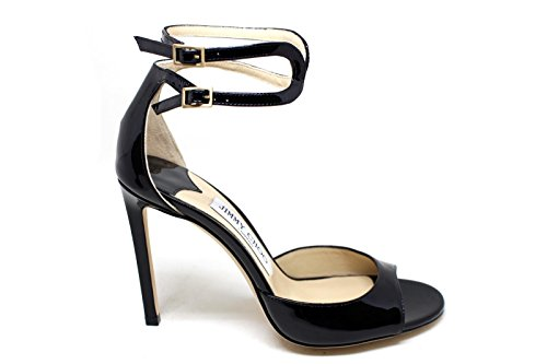 JIMMY CHOO Women's Lane100black Black Leather Sandals